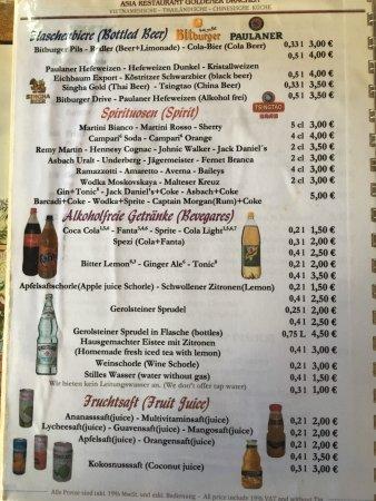 Landstuhl, Tyskland: Rest of the menu