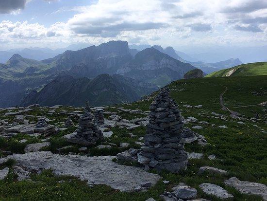 Unterwasser, Suiza: Fotos vom Gipfelrestaurant Chäserrugg und von der Aussicht vom Gipfel