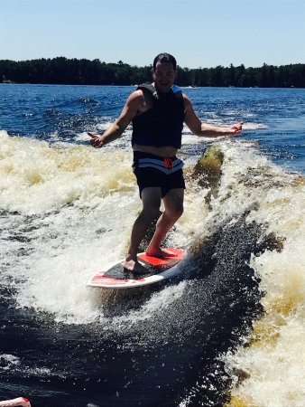 ‪‪Minocqua‬, ‪Wisconsin‬: Stoked on surfing!‬