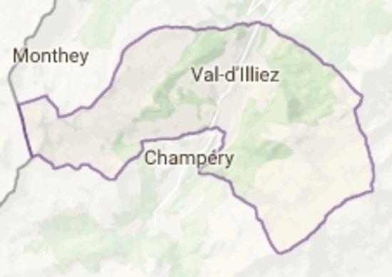 Champoussin, Szwajcaria: cartina