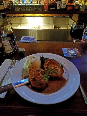 Denville, NJ: Stuffed Pork Chop.