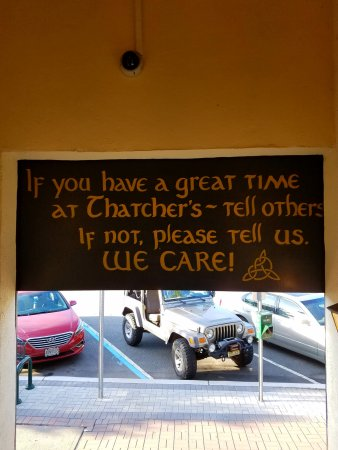 Denville, NJ: Sign by the door on your way out.