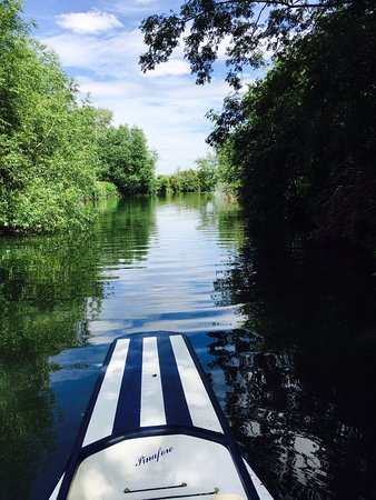 Witney, UK : picture taken from one of their paddle boats