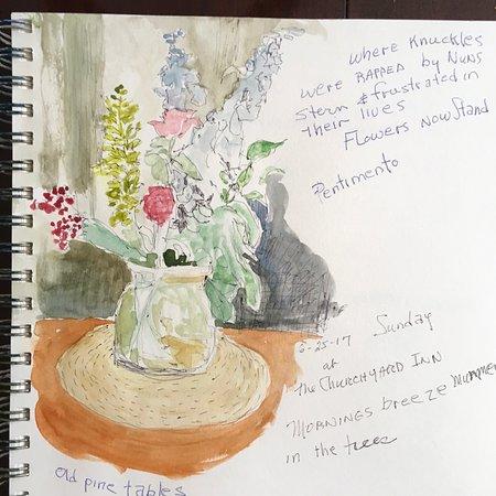 Uniontown, Etat de Washington : Dining Room Sketch Churchyard Inn.
