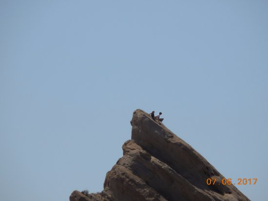 Agua Dulce, CA: climbers at the rocks