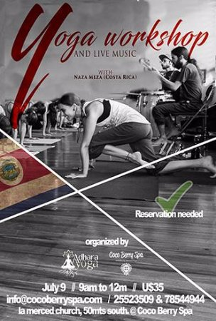 Coco Berry Spa Wellness by Daniela Prego : Our next Yoga Workeshop at Coco Berry Spa : Sunday July 9th  from 9:00AM to 12 noon