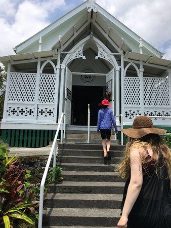 Honaunau, HI: The outside of the Painted Church