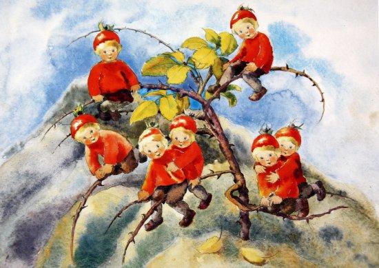 St. Moritz, Svizzera: spielende Blumenkinder