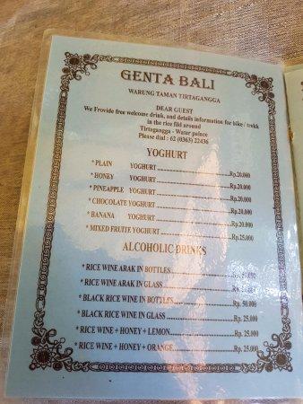 Subagan, Indonesia: Yoghourt et alcools locaux