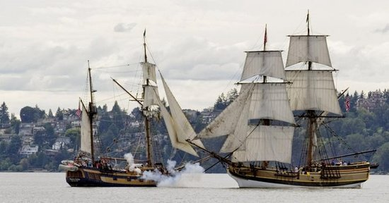 Newport's Historic Bayfront: Tall ships visit the Newport Bayfront every summer.