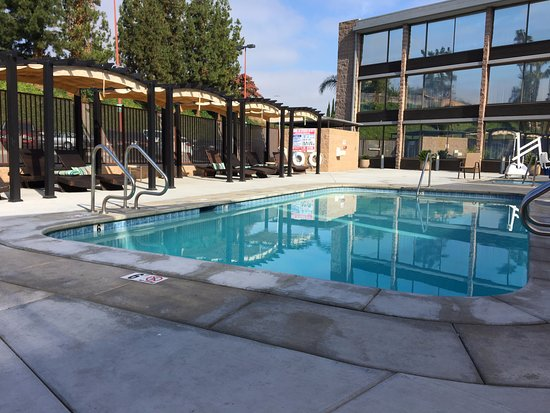 Laguna Hills, CA: Great covered cabanas so parents can relax close to pool while kids play.