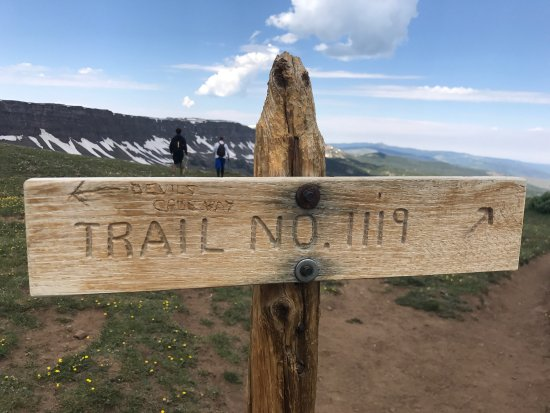 Devils Causeway Hike, Yampa CO. Epic hike, not for the inexperienced hiker/athlete. Three miles