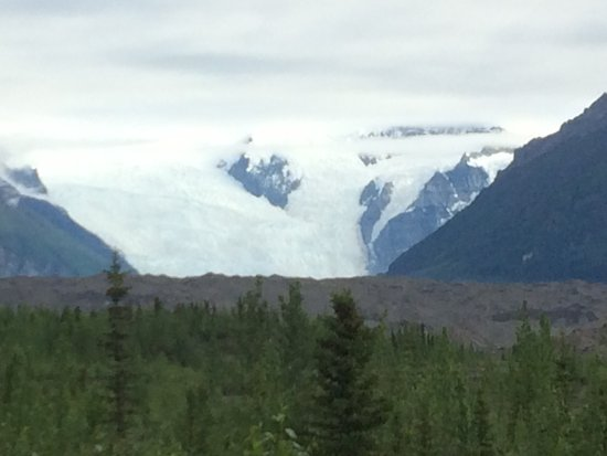 McCarthy, AK: This is the view from the front porch of the cabins. Amazing!