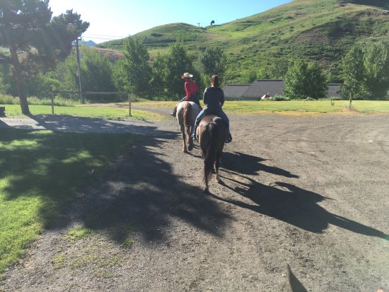 Sun Valley Stables: We are off on our adventure.