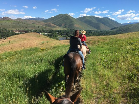 Sun Valley, ID: Enjoying the peaceful ride while taking in the scenery.