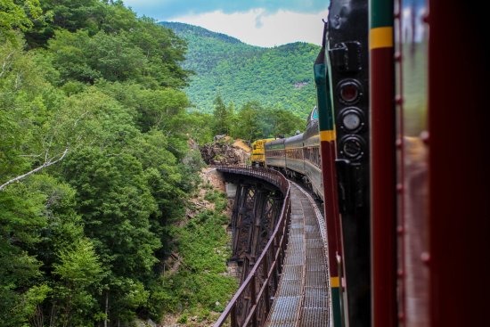 Conway Scenic Railroad: Going across Frankenstein trestle