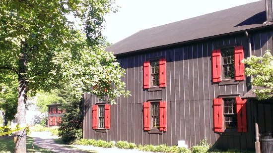 Loretto, KY: Check out the work on the shutters - wee Maker's Mark bottles.