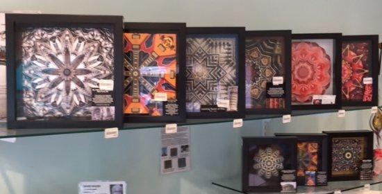 """Mashpee, MA: Dawn LaGrave's """"Kaleidescapes"""" photo shadow boxes (2 sizes)"""