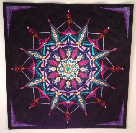 Mashpee, MA: Masterful quilts by Janice Chesnik, co-founder of Chesnik Scopes (now retired), and Jon Greene's