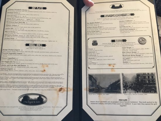 Caledonia, Canadá: disgusting menu my wife had handed to her by server.