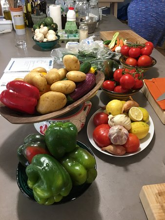 Arpaillargues, Francia: just great ingredients for our creative dishes