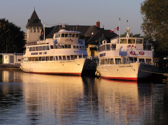 Gananoque port at sunset