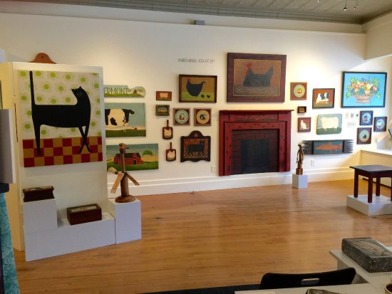 Brandon, VT: Warren Kimble show, July 2017. There's always an interesting feature show at the Guild.
