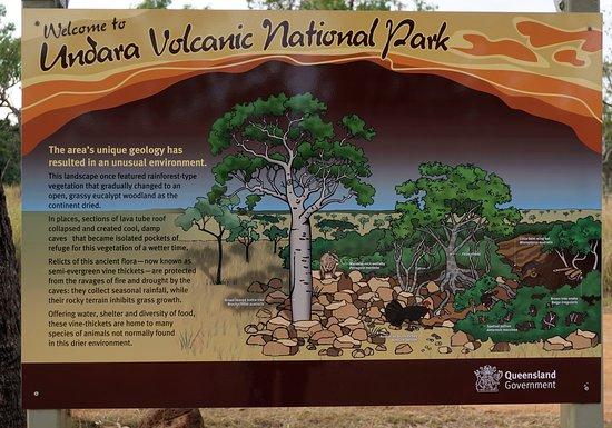 Undara Volcanic National Park, Austrália: signage