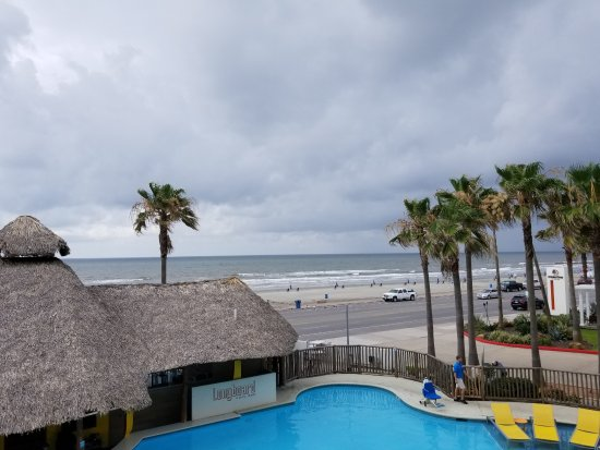 Doubletree By Hilton Hotel Galveston Beach From My Balcony Pool In Foreground