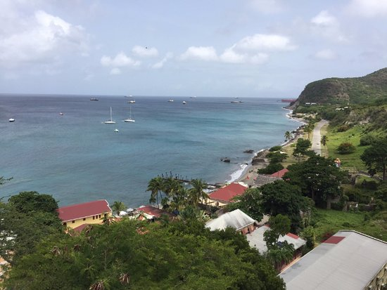 Sint Eustatius: Overlooking The Old Gin House from the fort above.