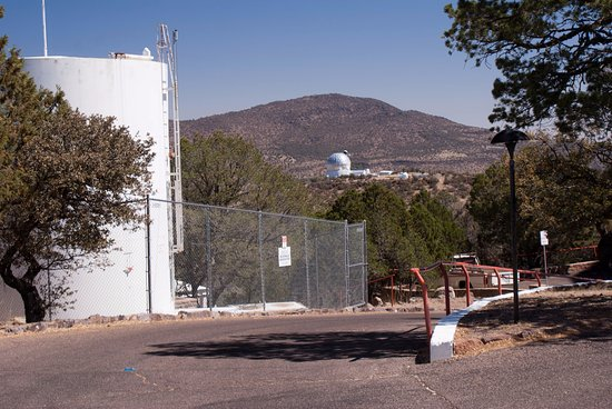McDonald Observatory: Standing by one of the observatories and looking towards another one