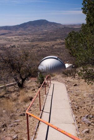 McDonald Observatory: Walkway to another telescope building