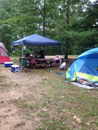 Heavenly Acres Campground: My site had 25x20 tent Red one and small blue tent plenty of room