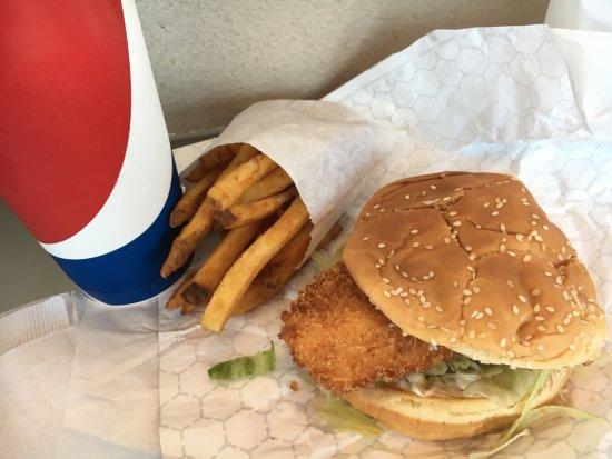 Nipps Drive-Through: delicious halibut sandwich