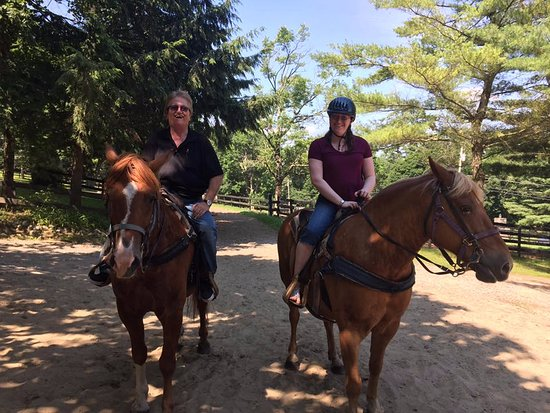 Saddle Up Stables: On our horses after the trail