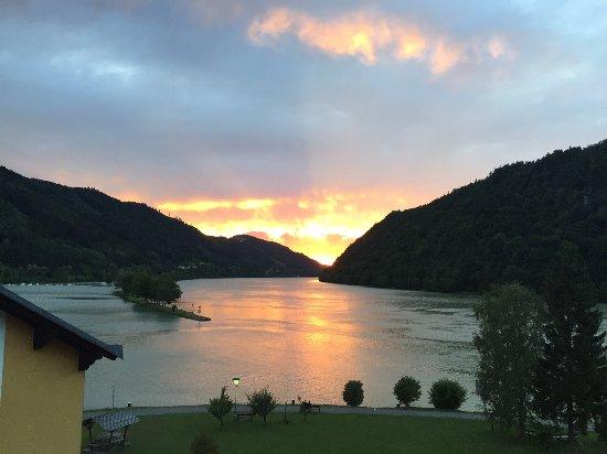 Schlogen, Oostenrijk: Sonnenuntergang
