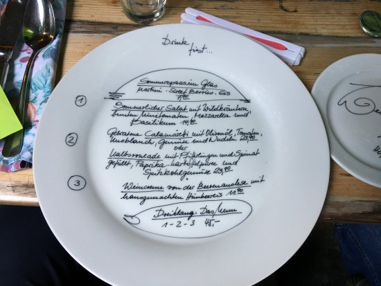 Kobern-Gondorf, Duitsland: Tageskarte tolle Idee auf dem Teller