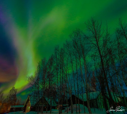 The Beauty of the Aurora in Nenana