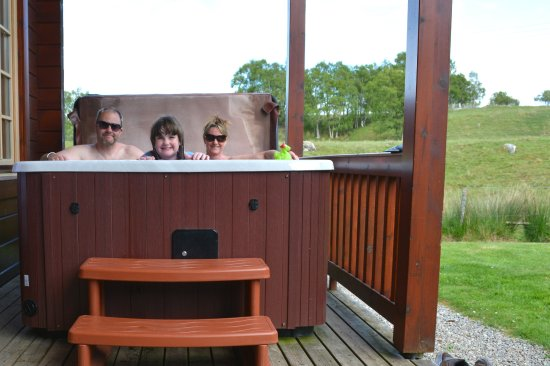 Whitebridge, UK: hot tub partridge lodge