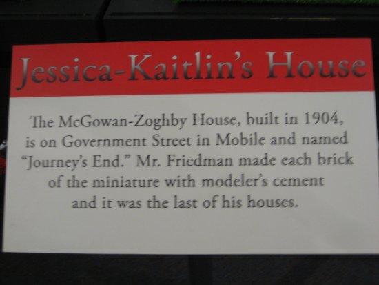 History Museum of Mobile: Label for Jessica-Kaitlin's House