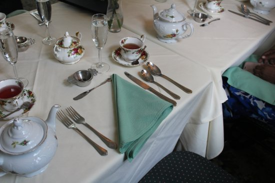 Convent Station, NJ: The table setting
