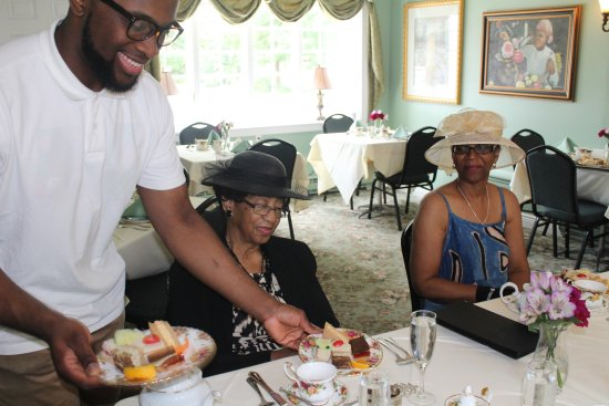 Convent Station, NJ: Serving of tea sandwiches