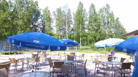 Tervo, Finland: Sitting to eat the salmon