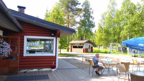 Tervo, Finland: Place where they cook the salmon for you