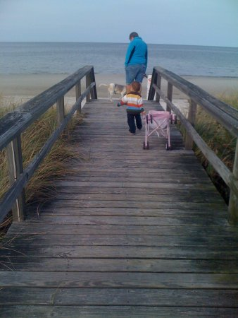 White Horse Beach Ma My Neighbor And Grandson Going To The