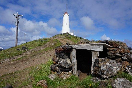 Grindavik, Island: Reykjanesviti Leuchturm erbaut in 1878