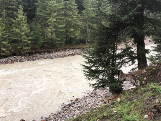 Sangla, India: the gushing river