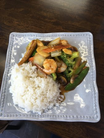 Clifton Park, Нью-Йорк: Lunch special: shrimp with vegetables