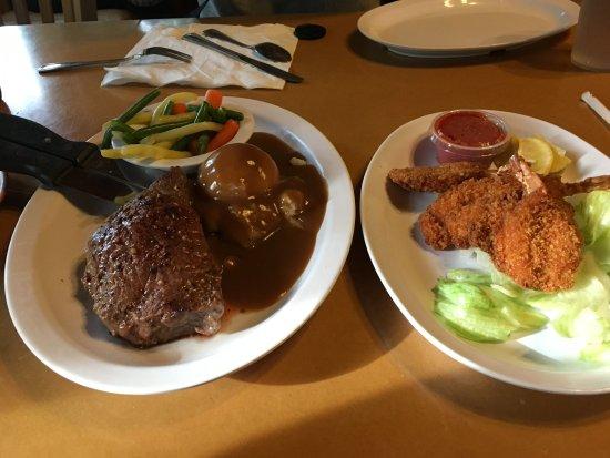 Duck Creek Village, UT: Steak and shrimps