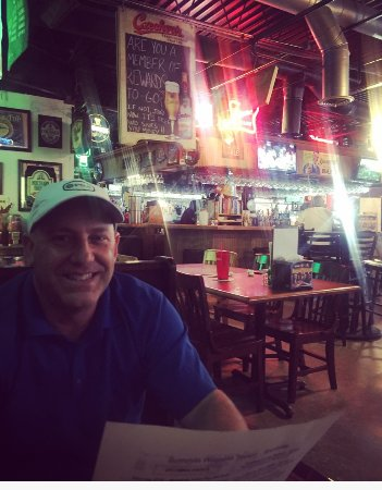 Snellville, GA: He's happy to have good hot wings, good beer, and a great place to watch the game!